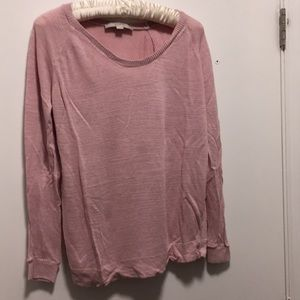 Pink scoop neck LOFT Maternity sweater